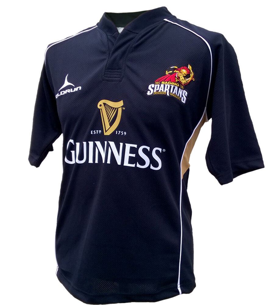 Olorun Spartans Supporters Rugby Shirt Black S-4XL 2015