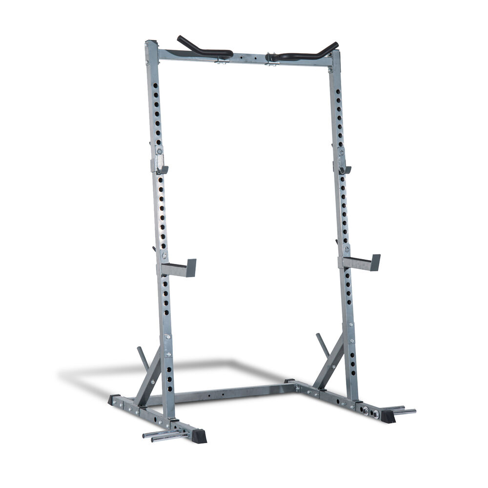 Power Rack With Weights: Soozier Squat Power Rack Stand Strength Lifting Pull Up