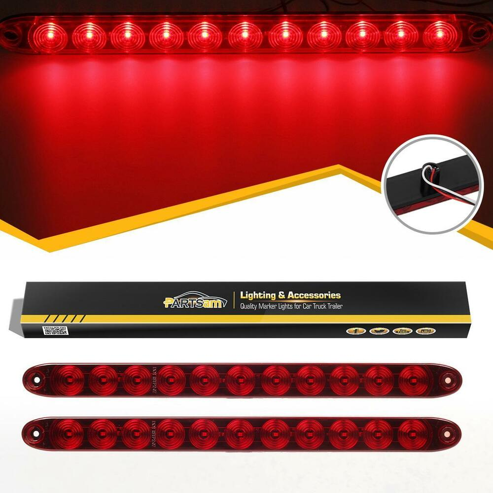 2xwaterproof Red 11 Led Stop Turn 15 Quot Truck Trailer Rv Car