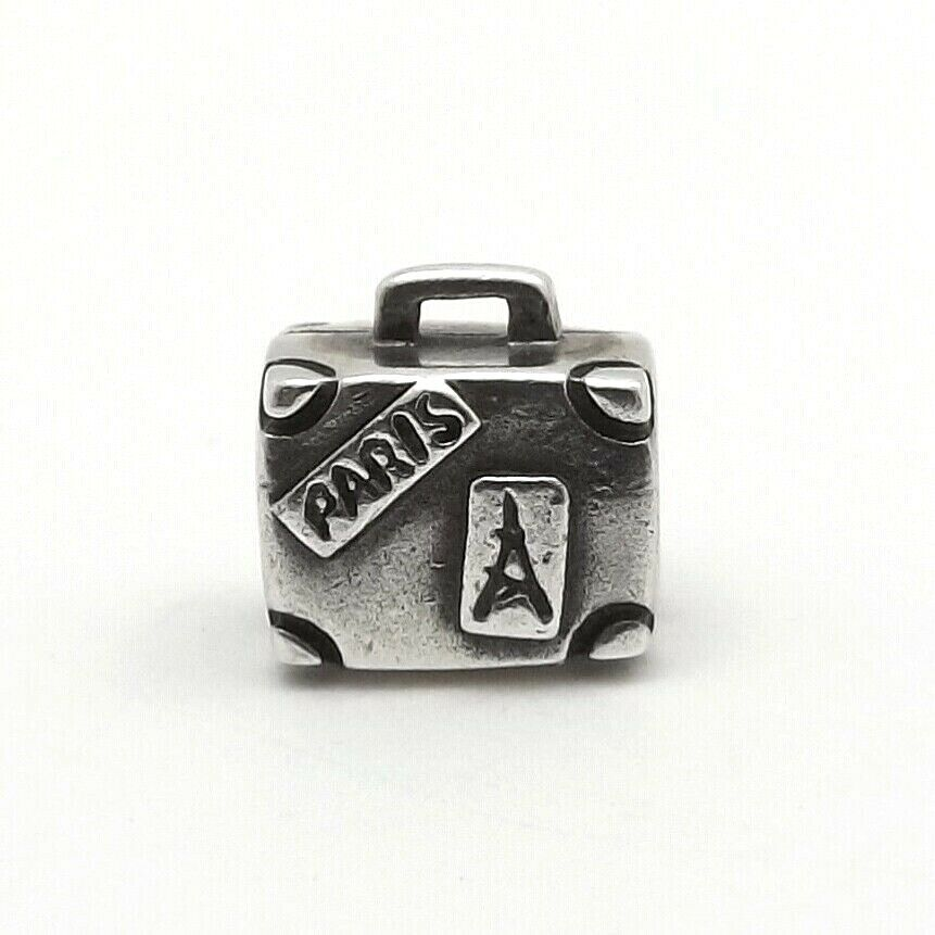 pandora sterling silver suitcase travel bead charm 790362