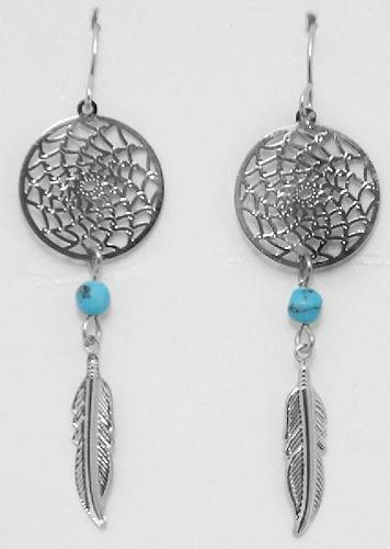 Horse Western Jewellery Jewelry Native Usa Style Dreamcatcher Earrings B Ebay