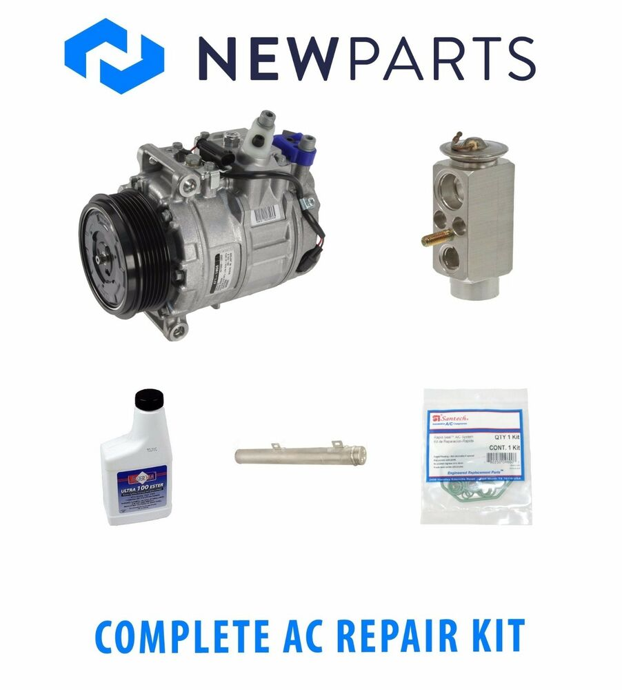 mercedes w211 e500 2003 2006 complete a c repair kit oem compressor with clutch ebay. Black Bedroom Furniture Sets. Home Design Ideas