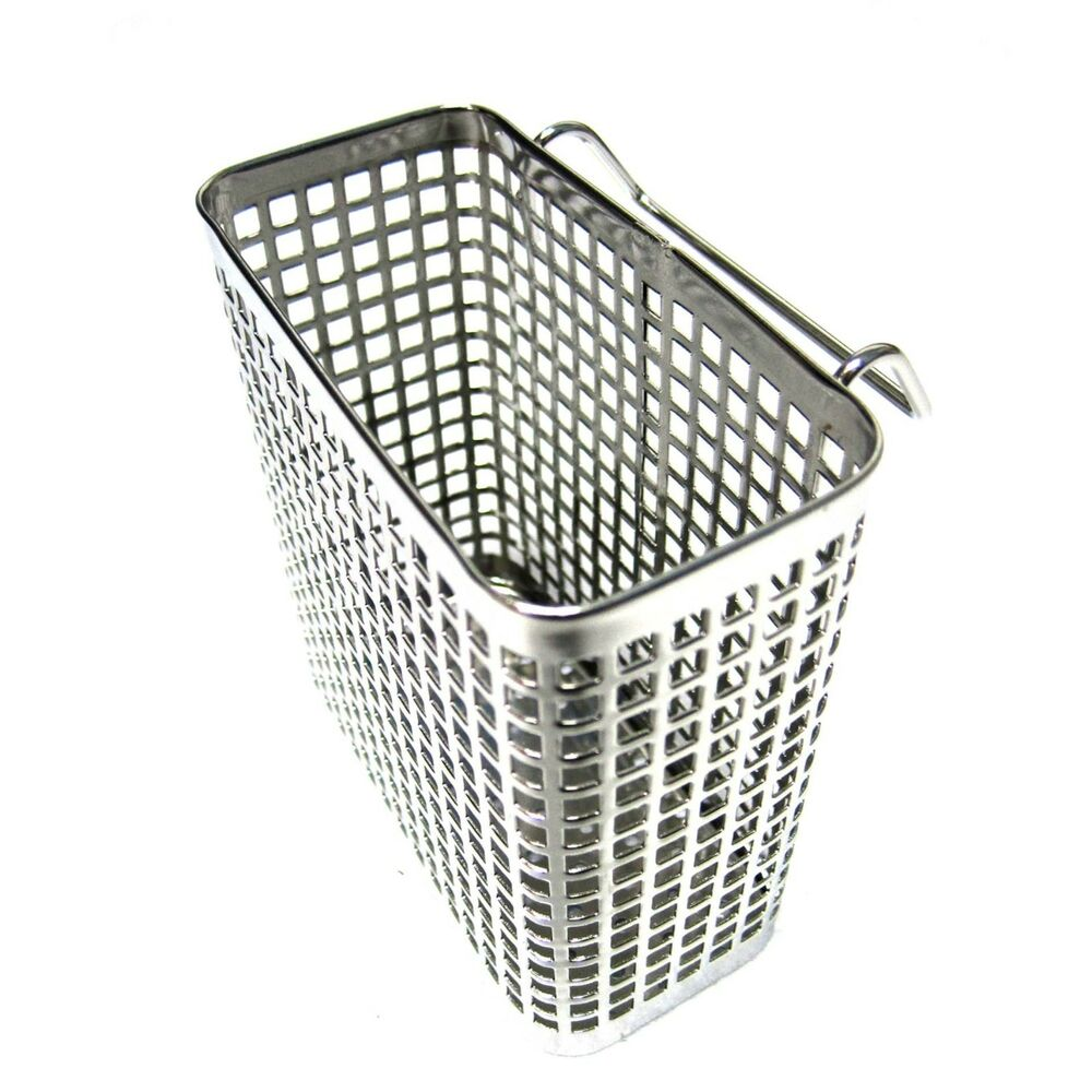 Small Square Stainless Steel Perforated Cutlery Basket