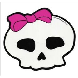 Skull with Bow - Die Cut Magnet - 5'' x 4''  Ice Box, Car, Tool Box  MGC005