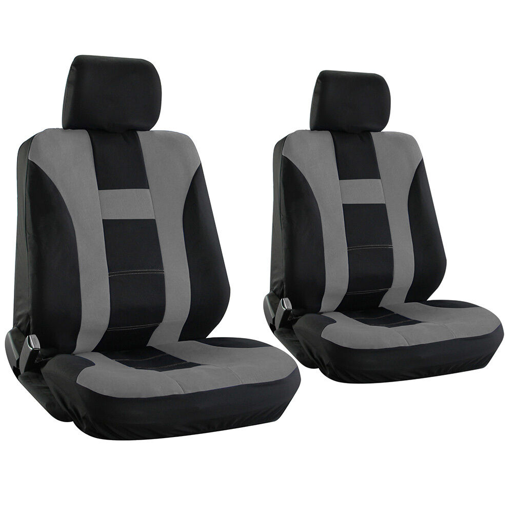 truck seat cover for toyota tacoma gray bucket w detachable head rest h stripe ebay. Black Bedroom Furniture Sets. Home Design Ideas