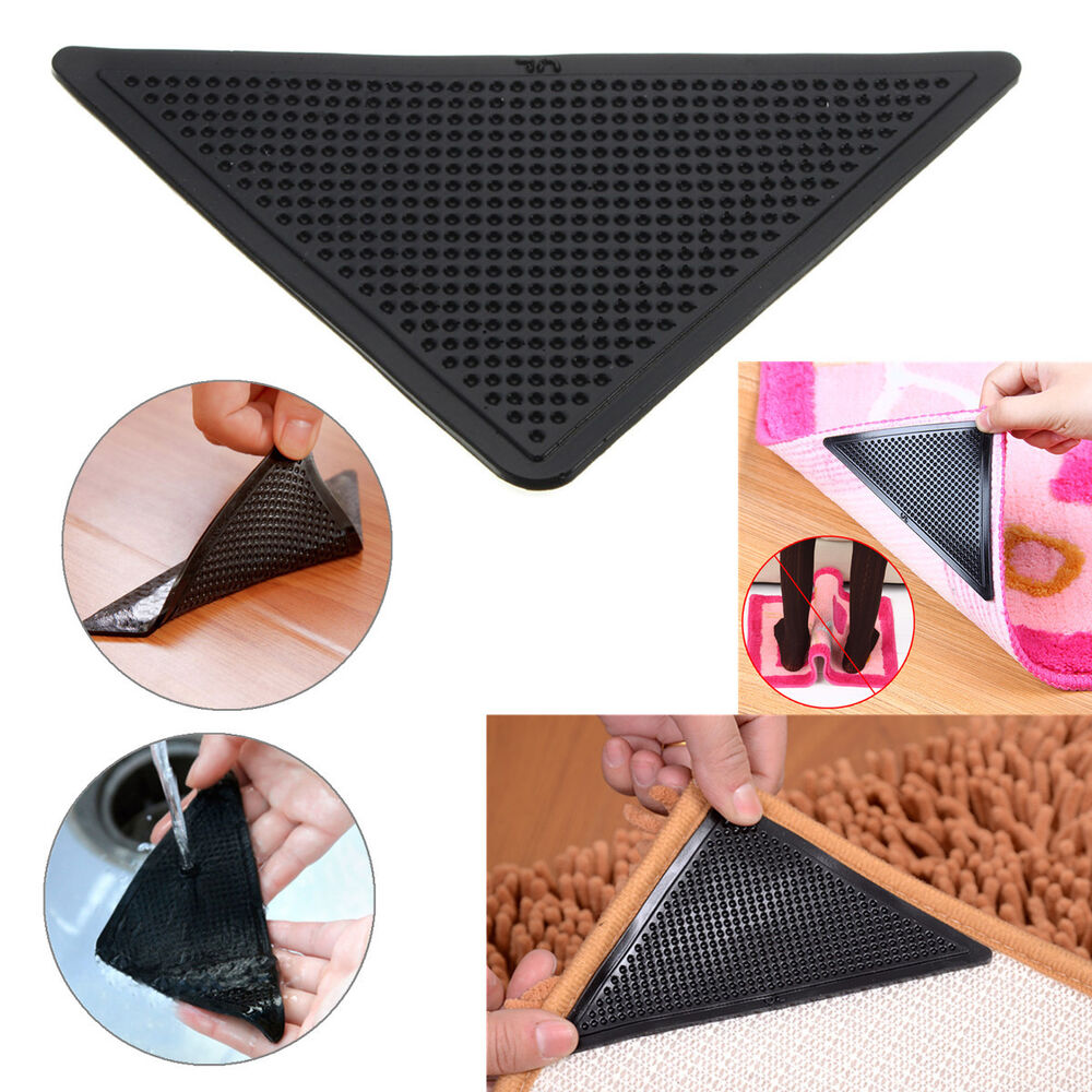4x rug carpet mat grippers anti slip anti skid reusable. Black Bedroom Furniture Sets. Home Design Ideas