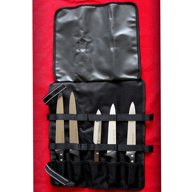chef 5 pocket chef knife roll bag case knife chef bag wallet cutlery knives new ebay. Black Bedroom Furniture Sets. Home Design Ideas