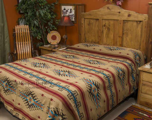 Southwest decor bedspread isleta queen ebay for Home decor queen west