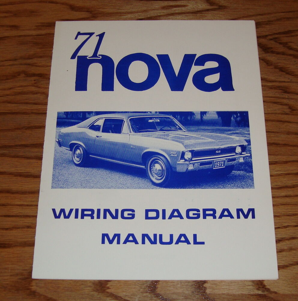 1971 Chevrolet Chevy Ii Nova Wiring Diagram Manual 71