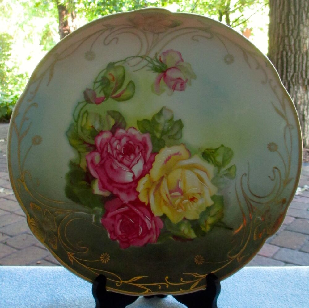 c t altwasser silesia germany huge hand painted plate