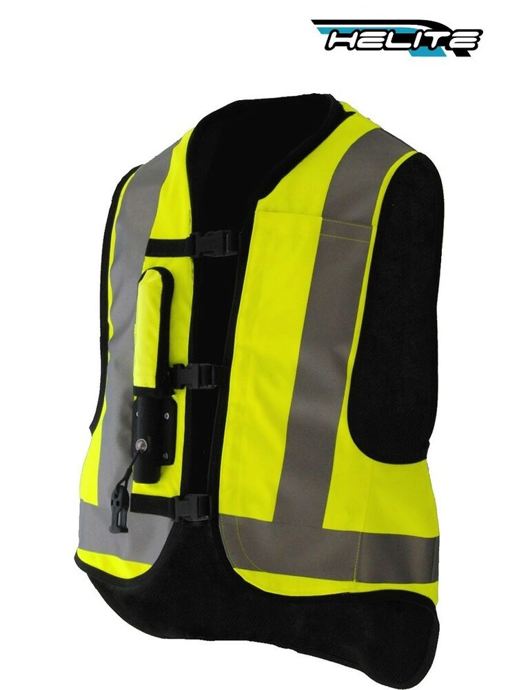 gilet air bag jaune fluo helite airnest hi vis gonflable moto airbag inflatable ebay. Black Bedroom Furniture Sets. Home Design Ideas