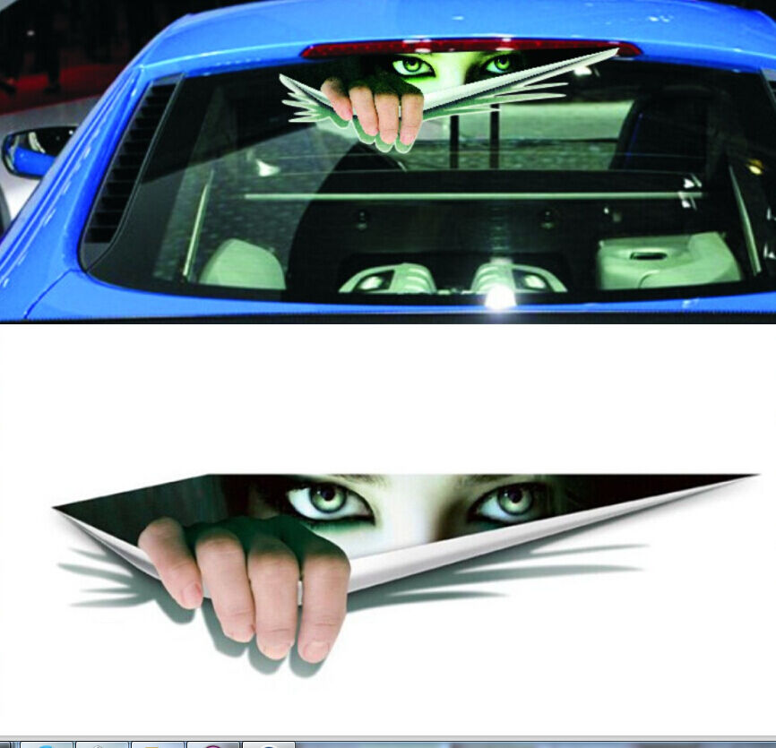 3d New Peeking Citroen Cars Walls Funny Sticker Graphic