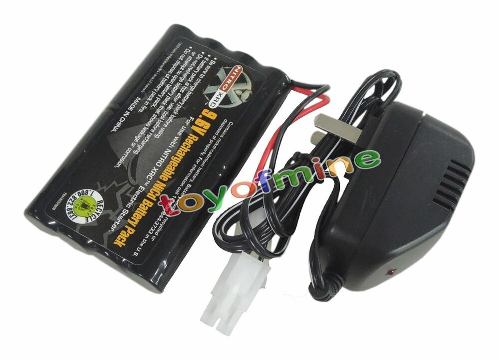 9 6v 2400mah ni cd rechargeable battery pack main charger tamiya connector ebay. Black Bedroom Furniture Sets. Home Design Ideas
