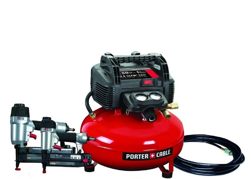 Porter Cable Finish Amp Brad Nailer Nail Gun Air Compressor