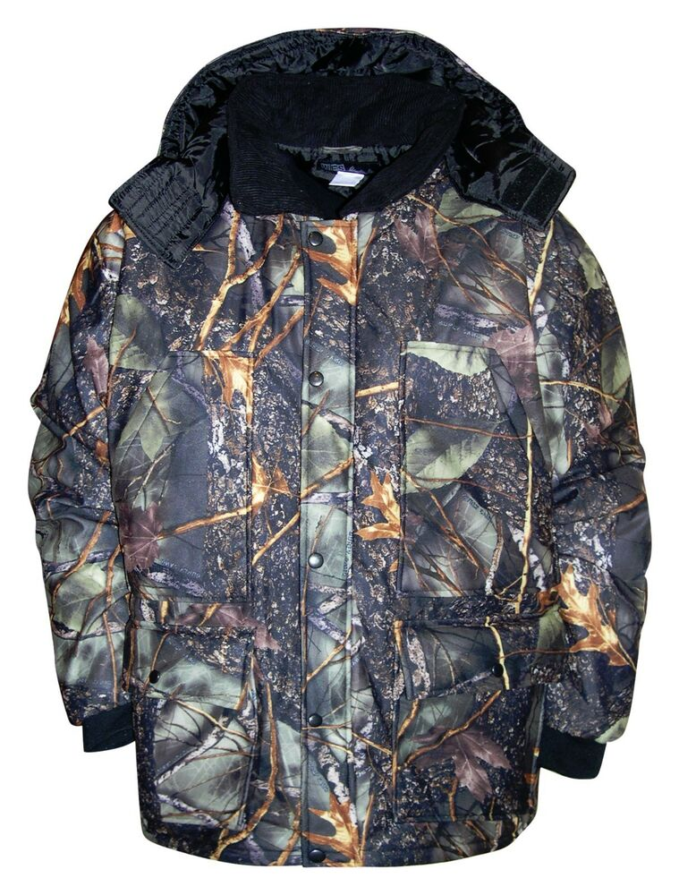 New WFS Mens Burly Camo Hunting Insulated Coat Jacket ...