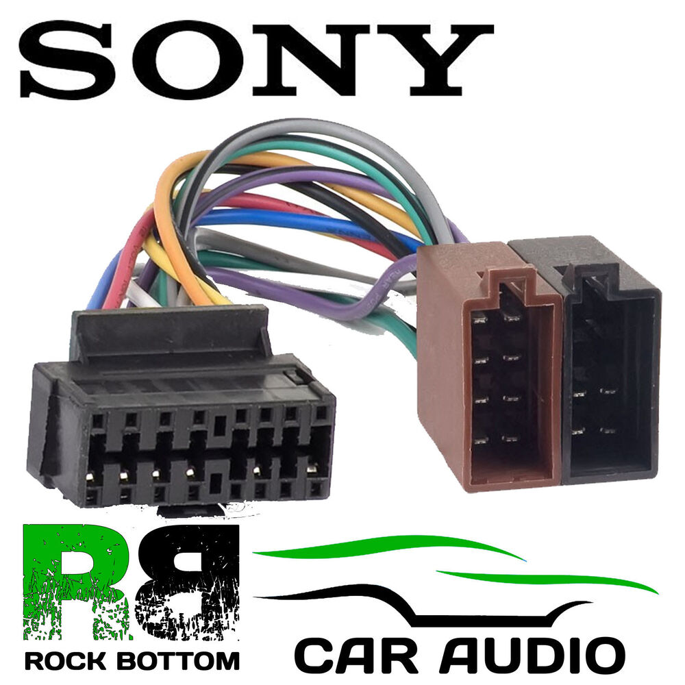 s l1000 sony cdx gt25 car radio stereo 16 pin wiring harness loom iso lead sony cdx m630 wiring harness at nearapp.co