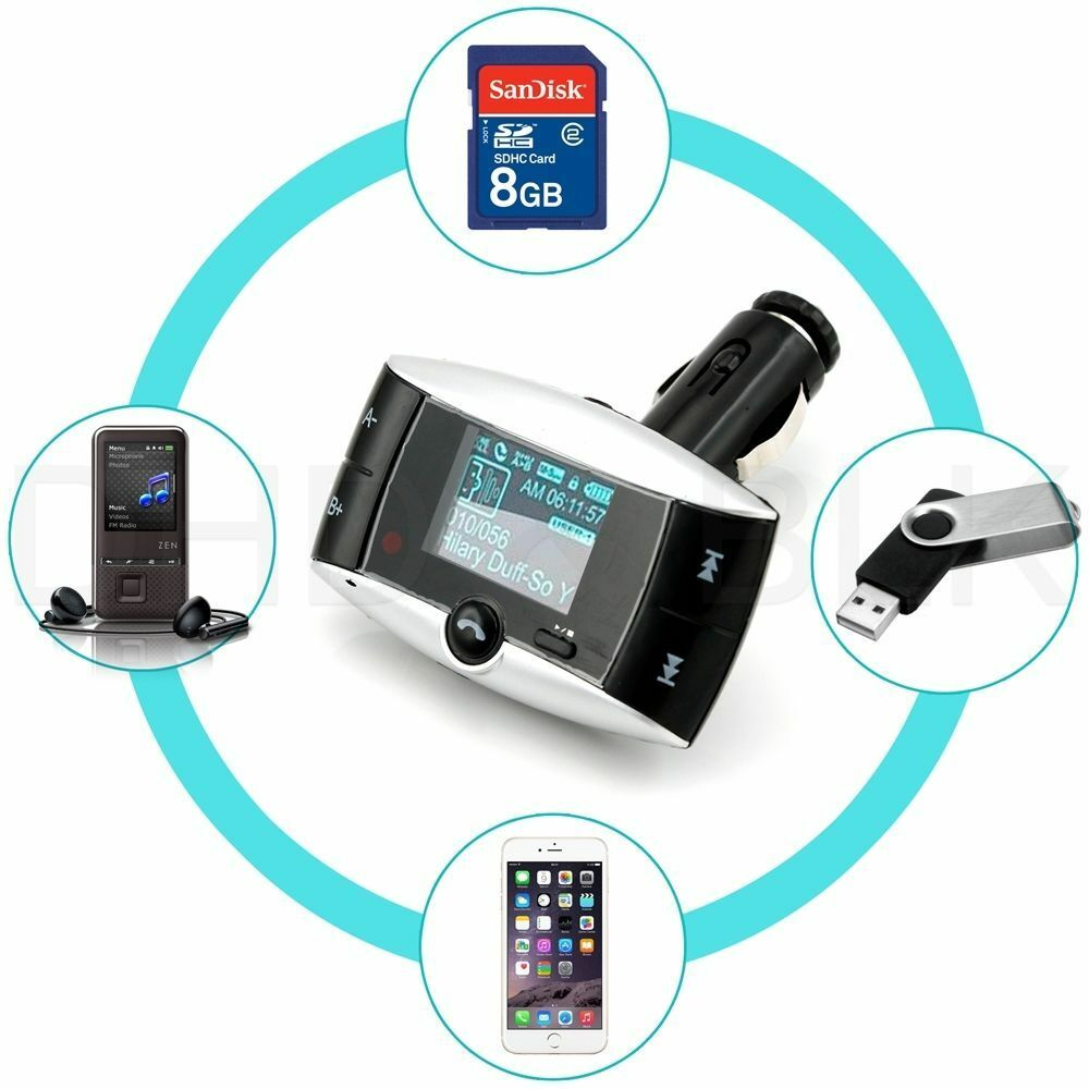 1 5 lcd car kit bluetooth mp3 player sd mmc usb remote fm transmitter modulator ebay. Black Bedroom Furniture Sets. Home Design Ideas