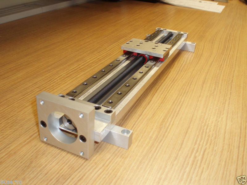 Linear stage actuator table 9 travel screw pitch for Low profile stepper motor