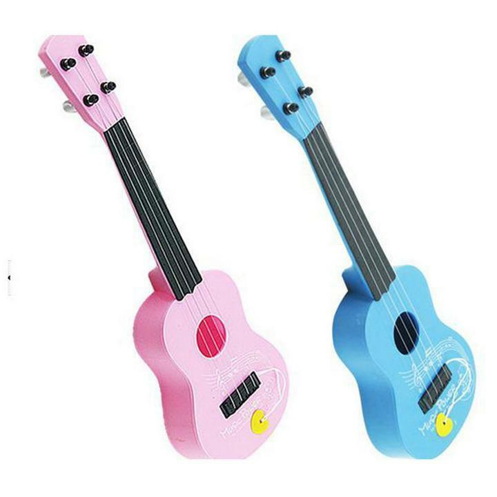musical plastic toy ukulele small guitar for beginners kids children ebay. Black Bedroom Furniture Sets. Home Design Ideas
