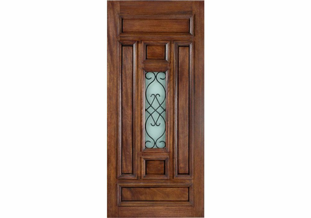 Exterior 36 x 80 paris mahogany solid for Solid french doors exterior
