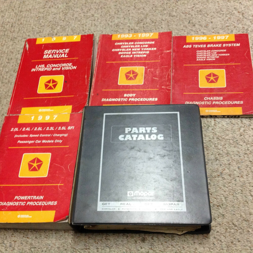 1997 Chrysler LHS CONCORDE VISION Dodge INTREPID Service Shop Repair Manual  Set | eBay