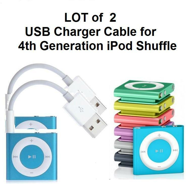 lot of 2 usb data sync charger cable cord for apple ipod. Black Bedroom Furniture Sets. Home Design Ideas