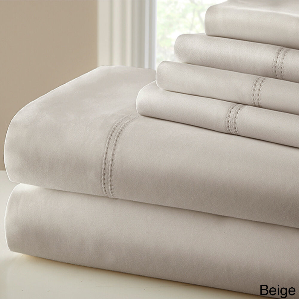 Amraupur overseas 1000 thread count blend double hem for What is thread count in sheets