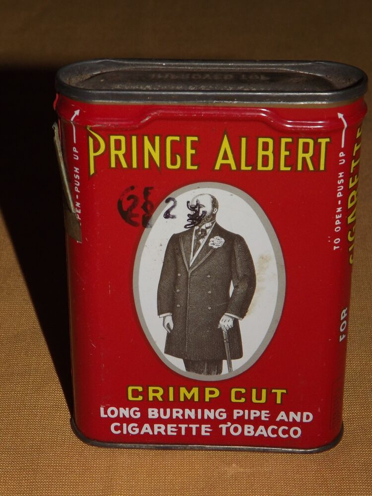 dating prince albert tobacco cans Prince albert blend is burley-based crimp cut long burning smoking tobacco packed in 14 oz cans to st.
