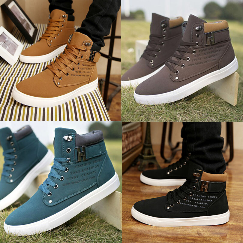 fashion casual martin boots lace up canvas high top