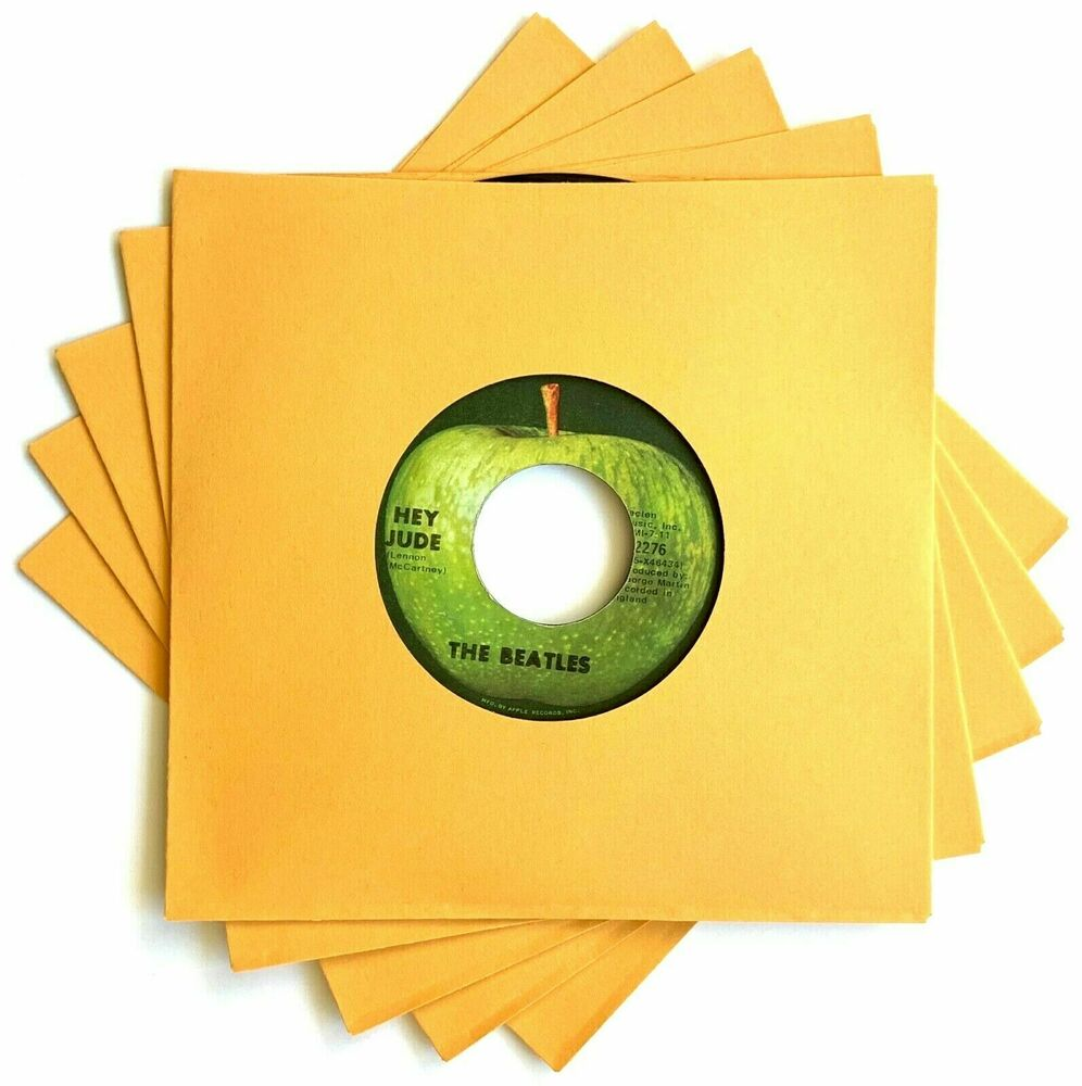 50 Gold Heavyweight Paper Record Sleeves 45rpm 7 Quot Vinyl