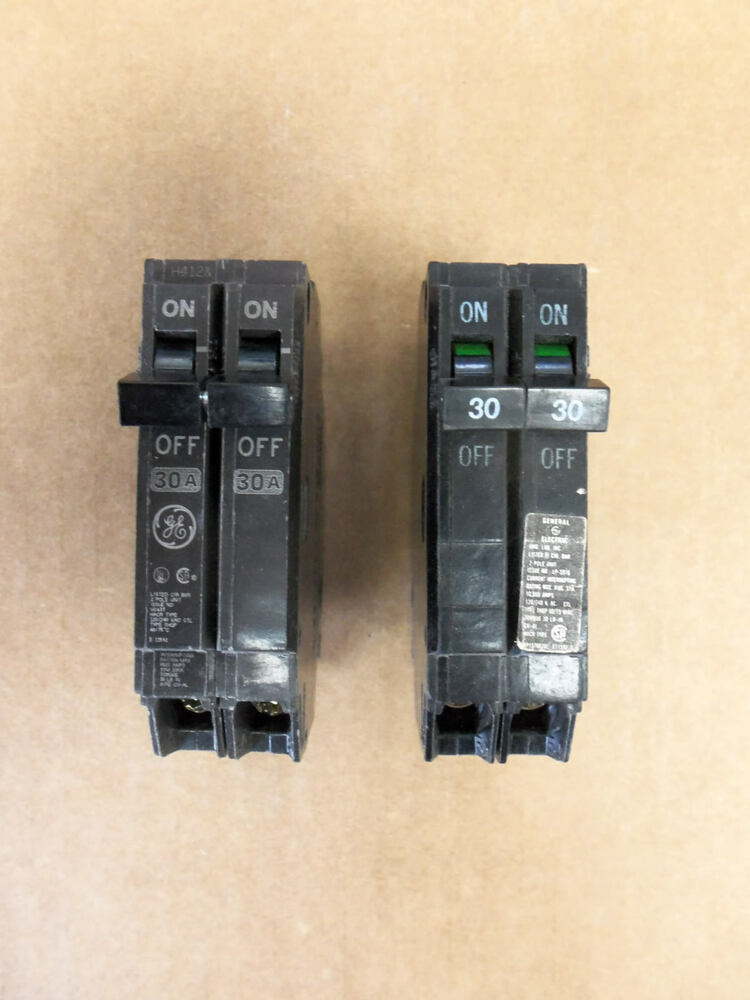Old Style Fuse Box Circuit Breakers : Ge thqp pole amp v circuit breaker old
