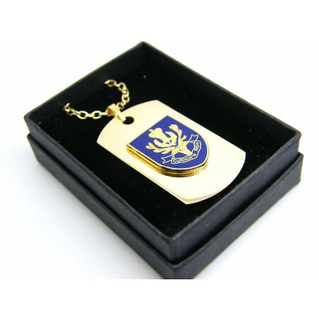 img-THE QUEENS OWN HIGHLANDERS BADGE DOG TAG PENDANT MILITARY GIFT IN BOX