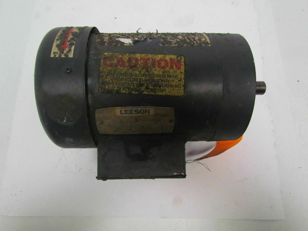 Leeson electric c145t34fc1e 3450rpm 2hp c face ebay for Leeson 1 2 hp dc motor