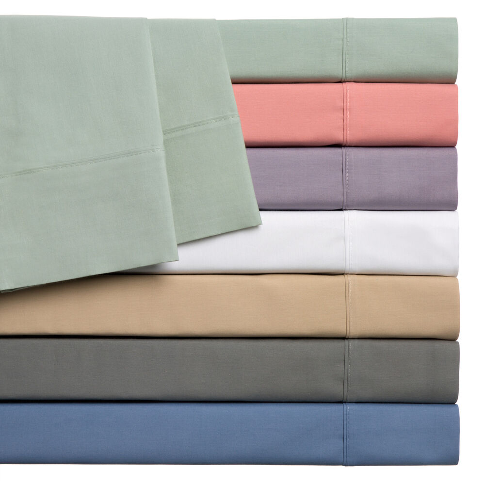 Home Styles Cotton Rich Solid Percale Sheet Set Ebay