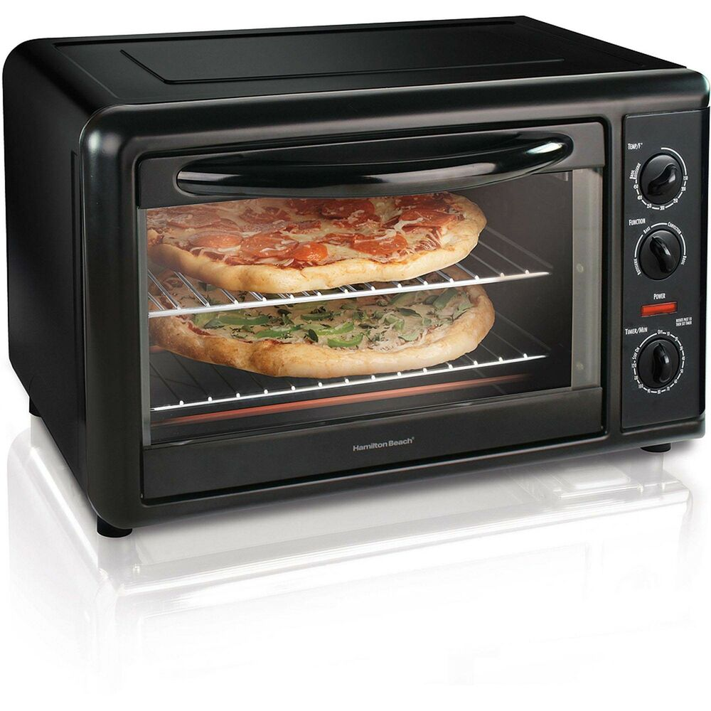 Countertop Convection Oven Toaster : Hamilton Beach Countertop Toaster Oven with Convection, Black 31121A ...
