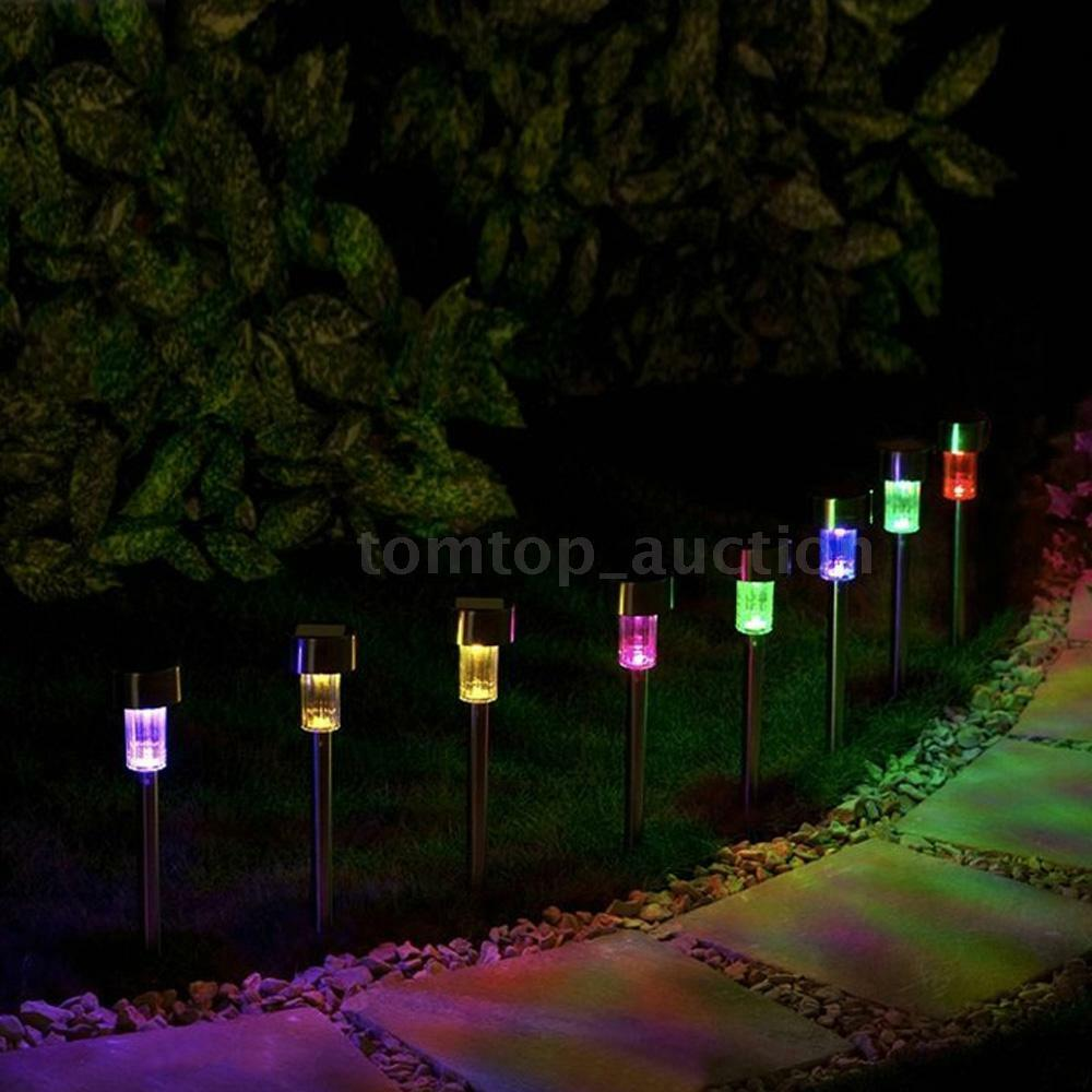 8x Solar Light Color Changing Lawn Light Lamp Outdoor