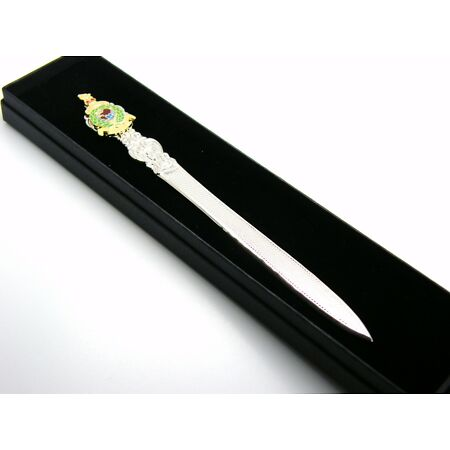 img-THE ROYAL MARINES NAVY BADGE LETTER OPENER MILITARY GIFT IN BOX
