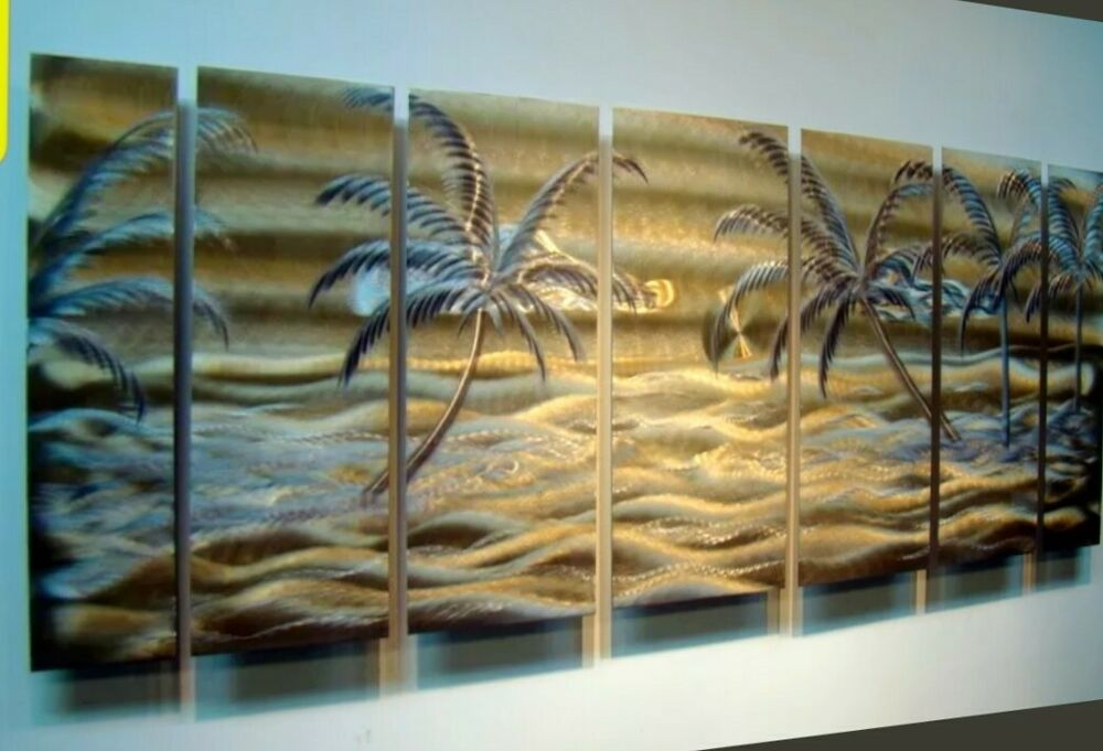 Tropical Abstract Modern Metal Wall Art Office Home Decor