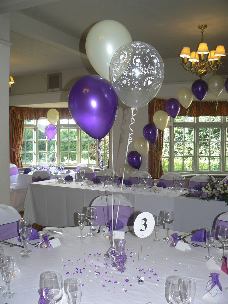 Wedding balloons decorations table displays hearts
