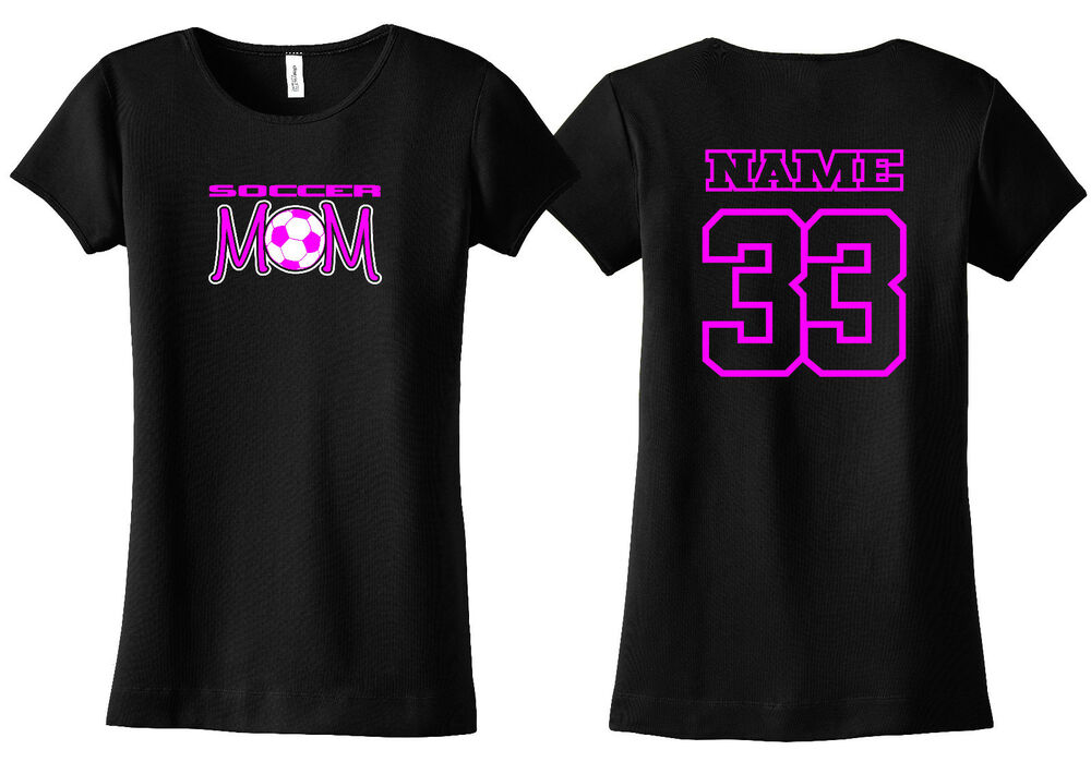Soccer mom personalized shirt custom name number youth for Rush custom t shirts