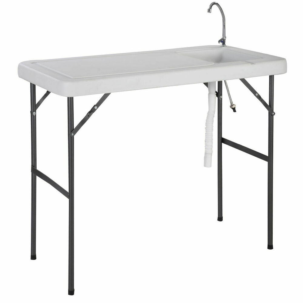 Goplus Folding Portable Fish Hunting Cleaning Cutting Table Camping ...