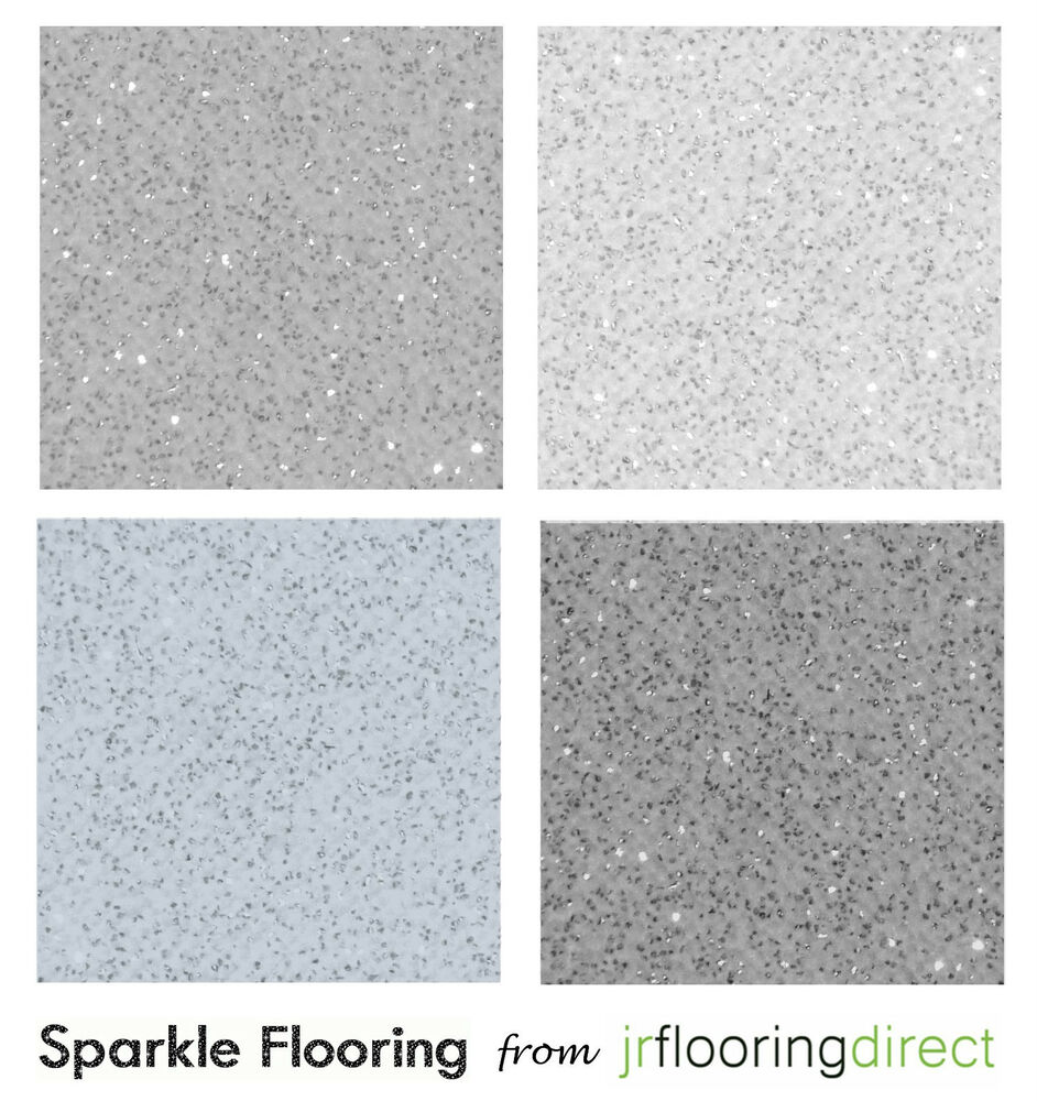 Glitter Kitchen Floor Tiles: GREY Sparkly Flooring / Glitter Effect Vinyl Floor