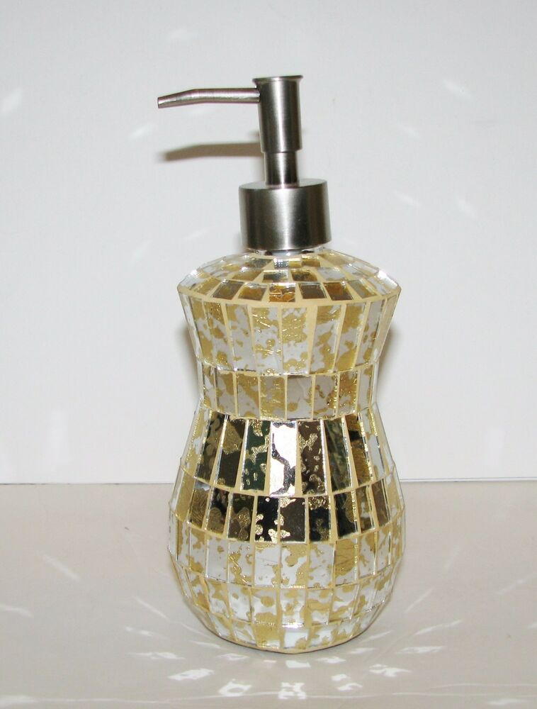 Hand Crafted Gold Mirror Glass Mosaic Kitchen Bathroom