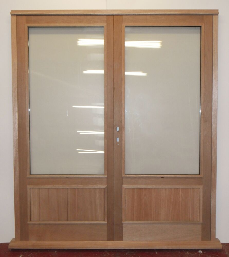 Wooden timber contemporary hardwood cottage style french for Hardwood french doors