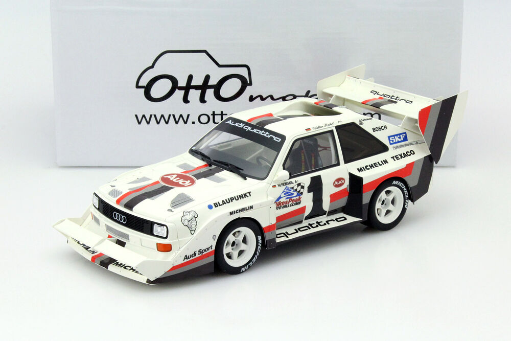 audi quattro s1 1 winner pikes peak 1987 r hrl 1 18 ottomobile ebay. Black Bedroom Furniture Sets. Home Design Ideas