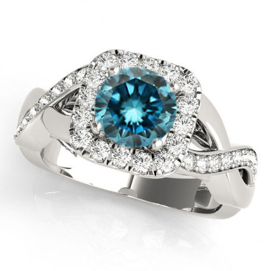 04 Carat Bands: 1.04 Carat White And Blue Fancy Diamond Solitaire Wedding