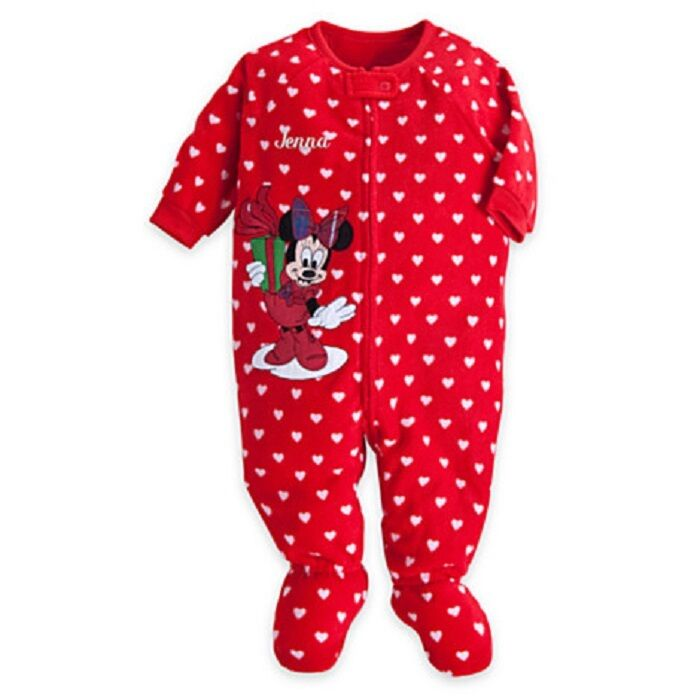 Disney Store Minnie Mouse Christmas Holiday Blanket