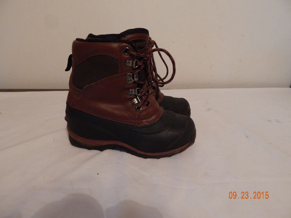 Girls youth SNow winter boots size 1 RANGER Brown nice wam