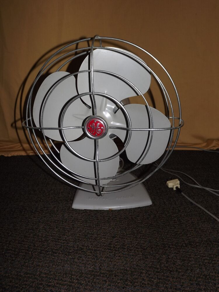 History About The Electric Fan : Vintage ge general electric speed oscillating table desk