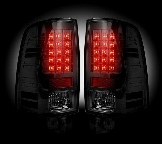 Recon Smoked Led Tail Lights 264236bk 2013 2016 Dodge Ram
